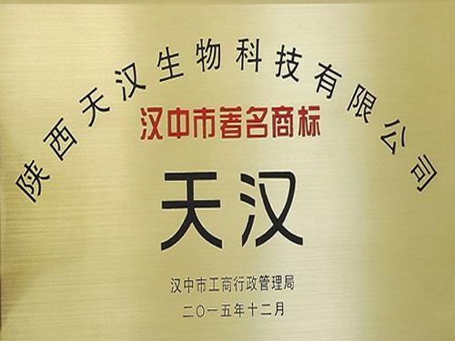 汉中市人民政府关于表彰2015年度荣获驰著名商标称号企业的通报
